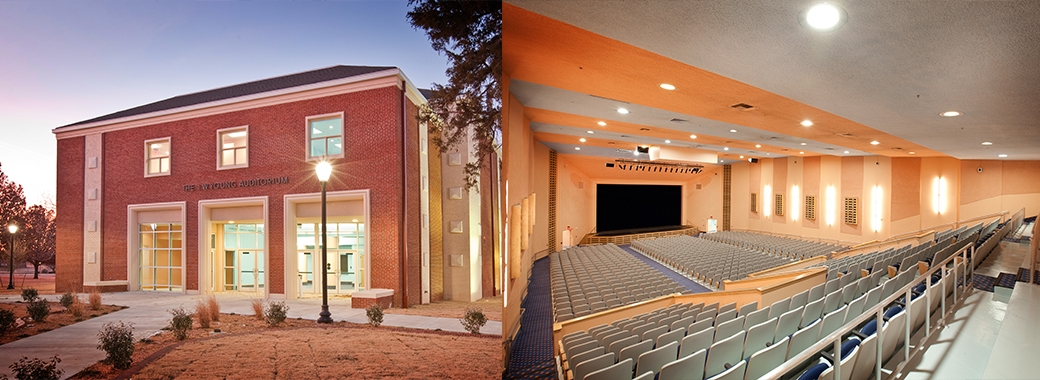 "I.W. Young Auditorium Langston University Langston, OK SonaSpray ""fc"""