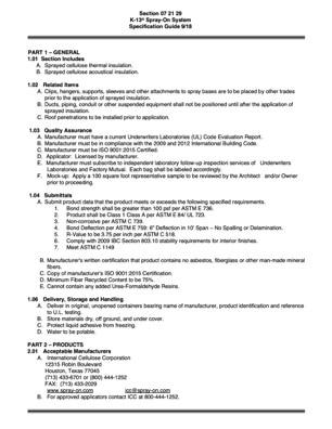 K-13 Specification