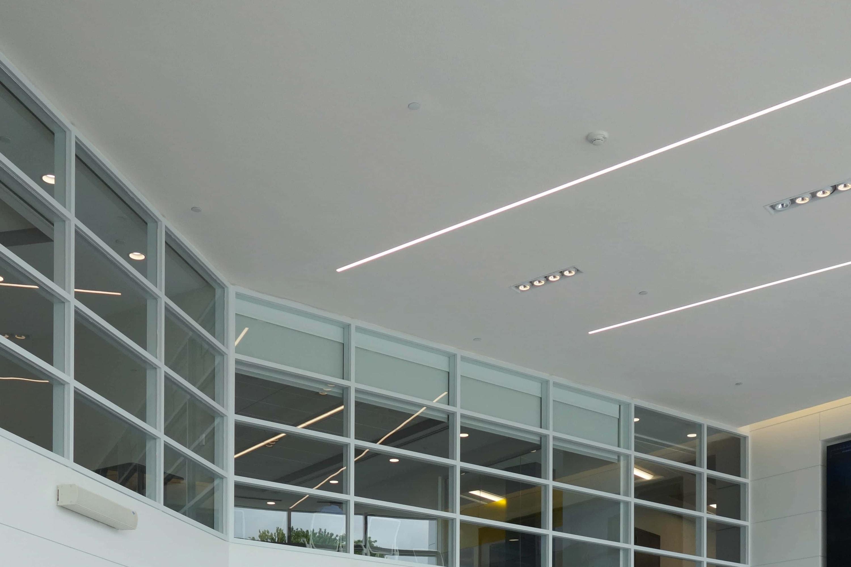 White SonaKrete on the ceiling in Dealer Track Head Quarters