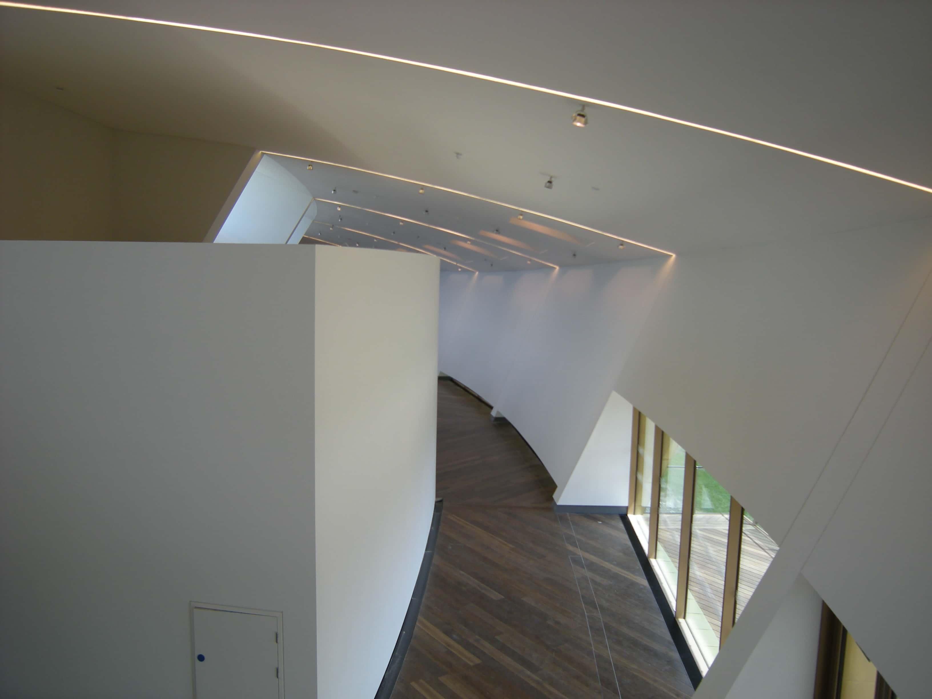 White SonaKrete on the ceiling