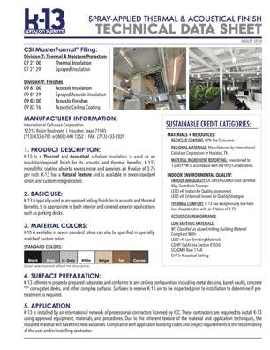 K-13 Technical Data Sheet