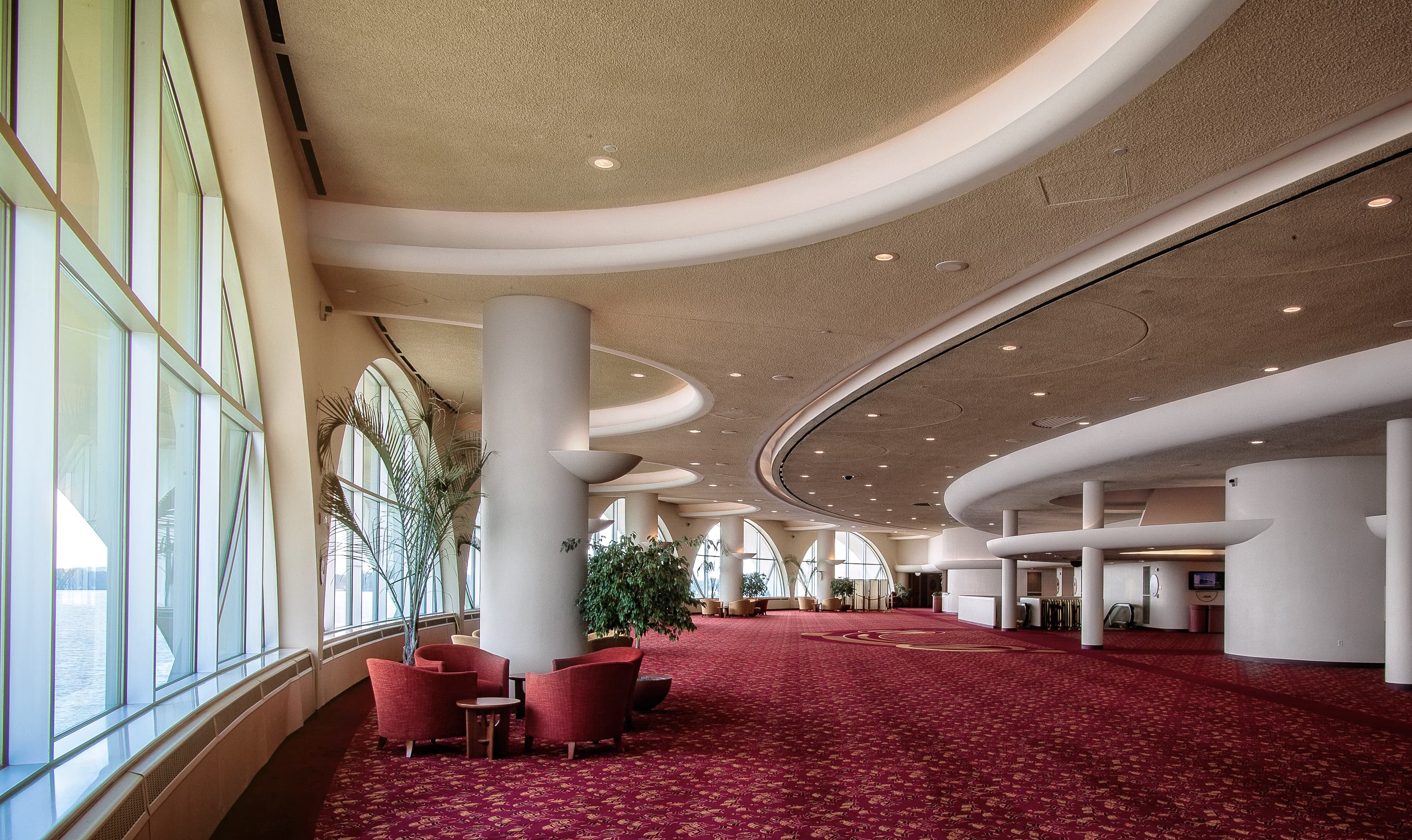 "Custom Color SonaSpray '""fc"" on the ceiling in Monona Terrace Convention Center"