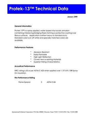 Protek-13 Technical Data Sheet