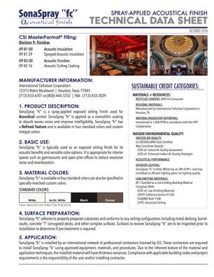 SonaSpray FC Technical Data Sheet